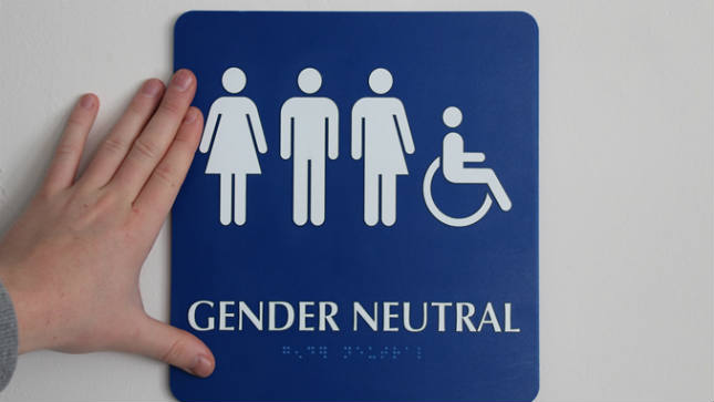 Fortunately, we had one gender-neutral washroom, otherwise I would have been in big trouble! It HAD to be gender-neutral, because we only had one wheelchair-accessible washroom.