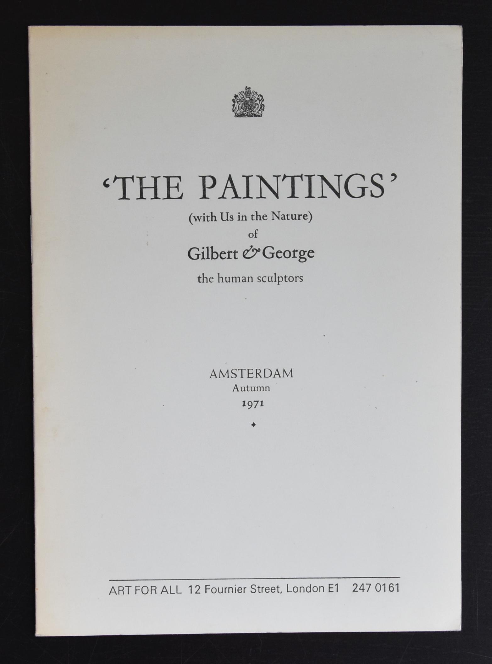gilbert george paintings a