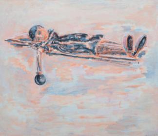 """""""Blue"""" painting by Arie van Geest. 1993"""