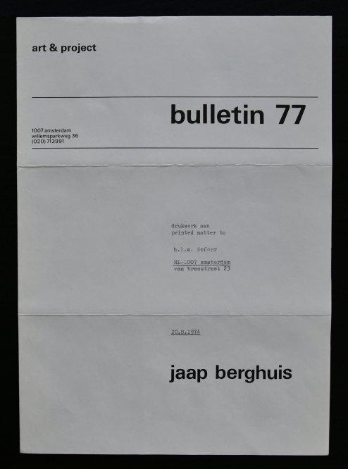 berghuis bulletin 77 a