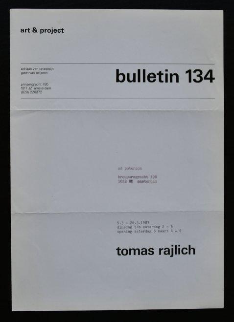 rajlich bulletin 134 a
