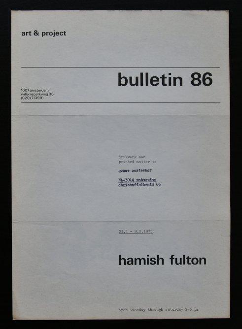 fulton bulletin 86 a