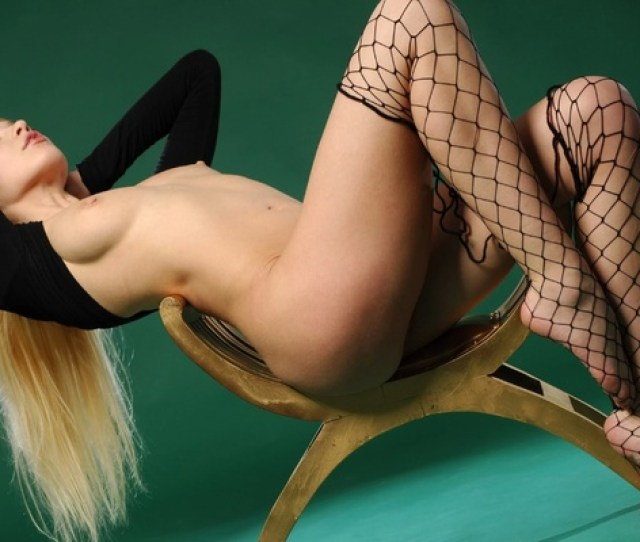 Rita G Sofine Blonde Nude Legs Stockings Fishnet Ass