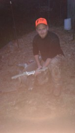 Chip with his first buck.