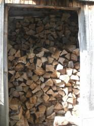 Wood shed is stuffed!
