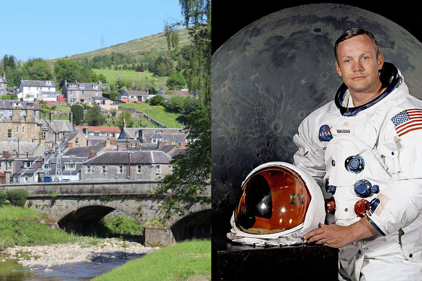 Neil Armstrong visit to Langholm
