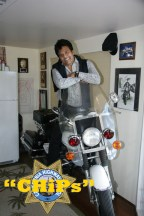 Erik Estrada with his bike