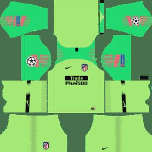 Atletico Madrid UCL Goalkeeper Away Kit
