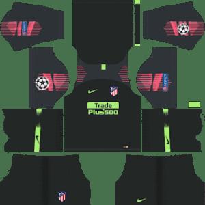 Atletico Madrid UCL Goalkeeper Home Kit