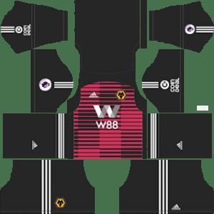 Wolverhampton Wanderers FC Goalkeeper Away Kit 2019