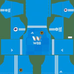 Wolverhampton Wanderers FC Goalkeeper Home Kit 2019