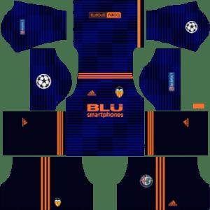 Valencia UCL Away Kit