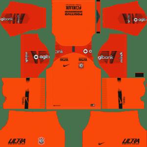 Corinthians Goalkeeper Home Kit 2019