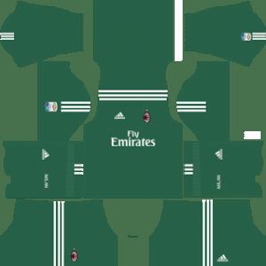 AC Milan Goalkeeper Home Kit 2018