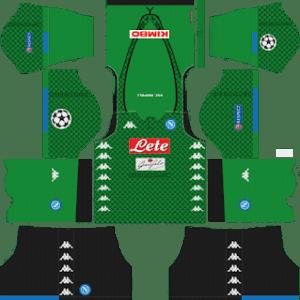 S.S.C Napoli Goalkeeper Home Kit: