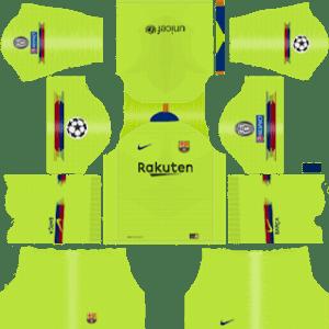 Barcelona UEFA Champions League Badge Away Kit