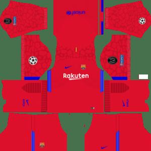 Barcelona UCL Goalkeeper Home Kit