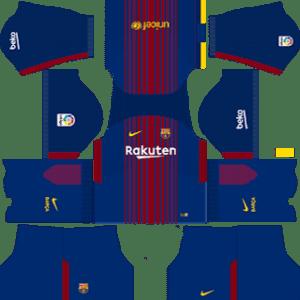 Barcelona Kits 2017/2018 Dream League Soccer