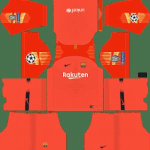 Barcelona UEFA Champions League Badge Goalkeeper Third Kit