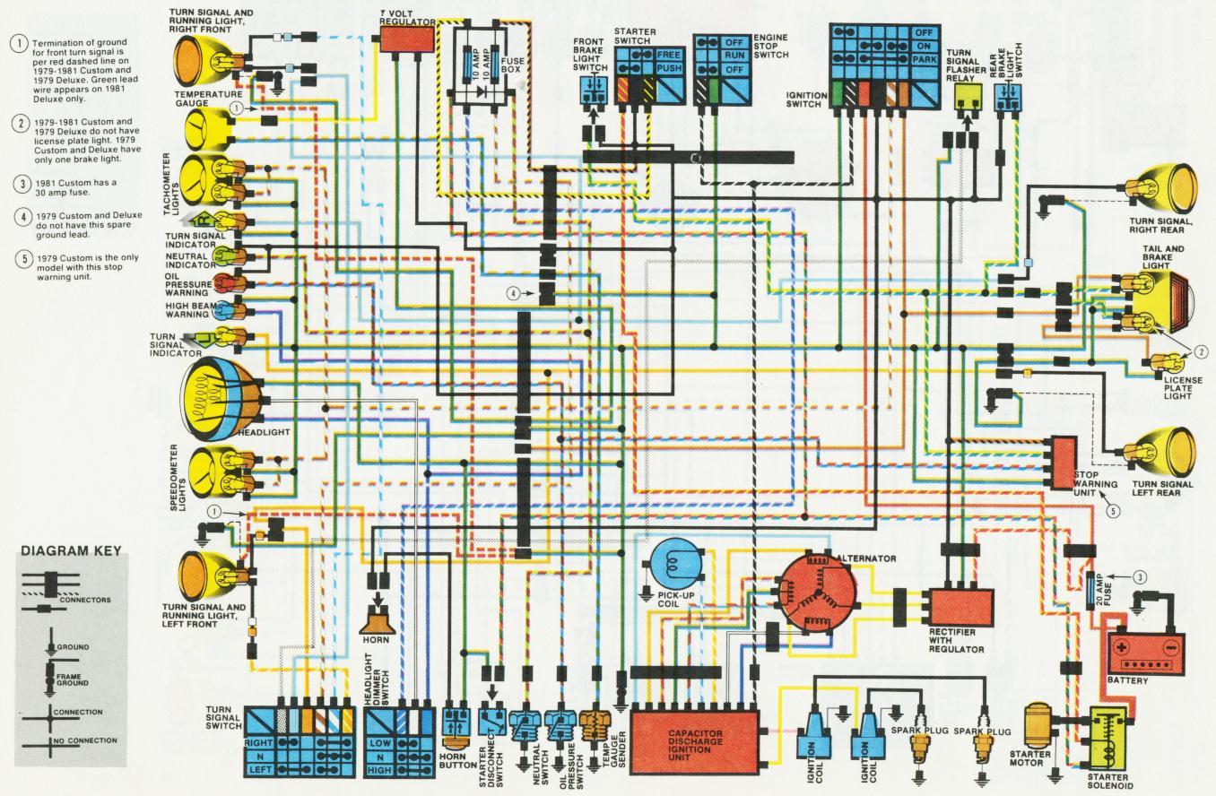 1981 Xs650 Wiring Diagram Yamaha 650 Wiring Diagram • Eolican.com