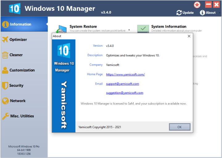 Windows 10 Manager Crack Download 2021