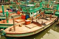 Fisherboats near Sihanoukville