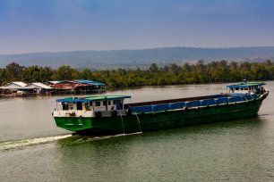 River Traffic in Cambodia