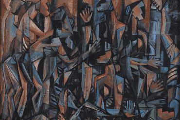 Rabin Mondal, Brothel II, 1962. Oil on canvas. 83.8 x 109.2 cm. Courtesy of DAG, Delhi, Mumbai and New York