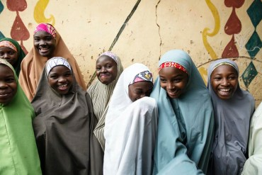 """Students at """"Center of Girls Education"""" in Zaria, Nigeria."""