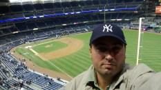 Jogo dos Yankees. Esse jogo foi contra os Red Sox na abertura da temporada e os Yankees venceram. Mas minha zica fez com que eles sequer chegassem a pós temporada.