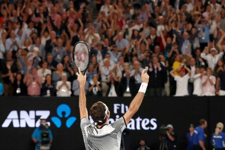 Watch the final point of Roger Federer's thrilling Australian Open win |  For The Win