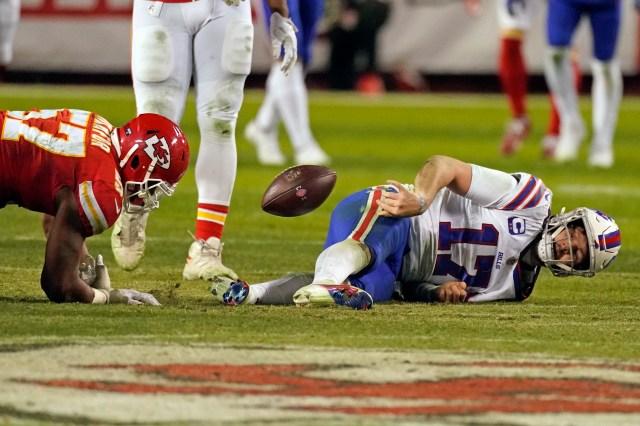 Bills: Fans had jokes on Josh Allen tossing ball at defender's head