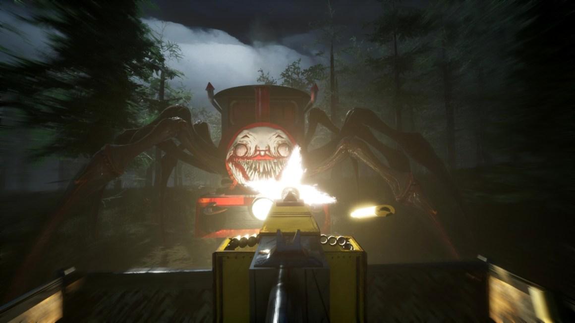 Choo-Choo Charles is a horror game with a clown-face train