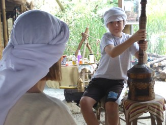 Making tea and music at Explorations in Antiquity Center via @FieldTripswSue