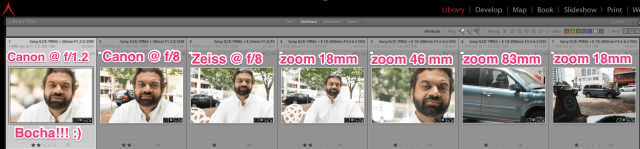 Sony A7RII lens comparisons