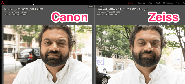 canon vs zeiss lenses at f/8