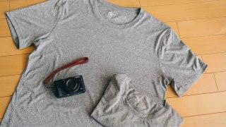 夏に快適すぎる!無印良品の「急汗速乾UVカット半袖Tシャツ」
