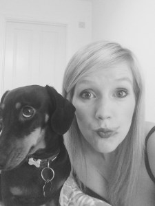Parsnip and I showing our #smearforsmear in aid of cervical cancer prevention week