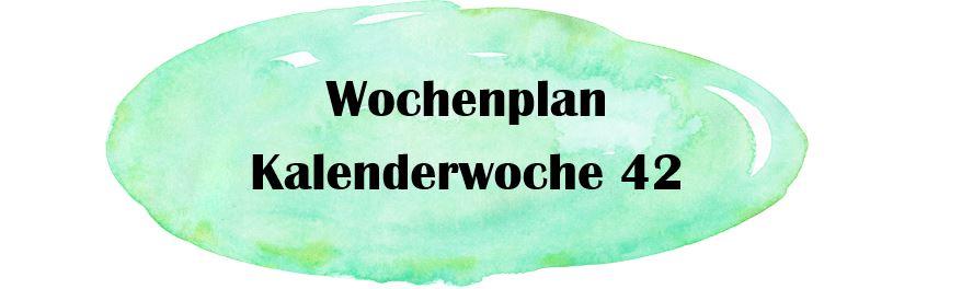Essensplan – KW 42