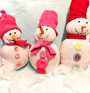 DIY – Schneemann aus alter Socke basteln