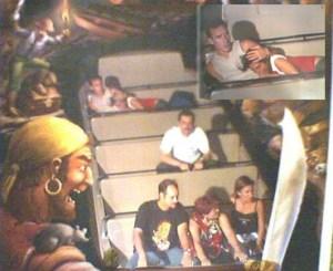 theme park after dark