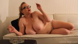 Sabina Smoking Unclothed to the midbody Video