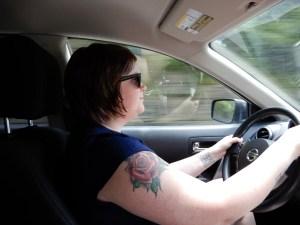 Emily drove like a champ