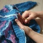 steeking a sweater