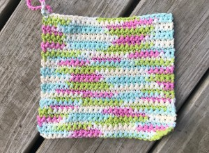 Single Crochet Dishcloth