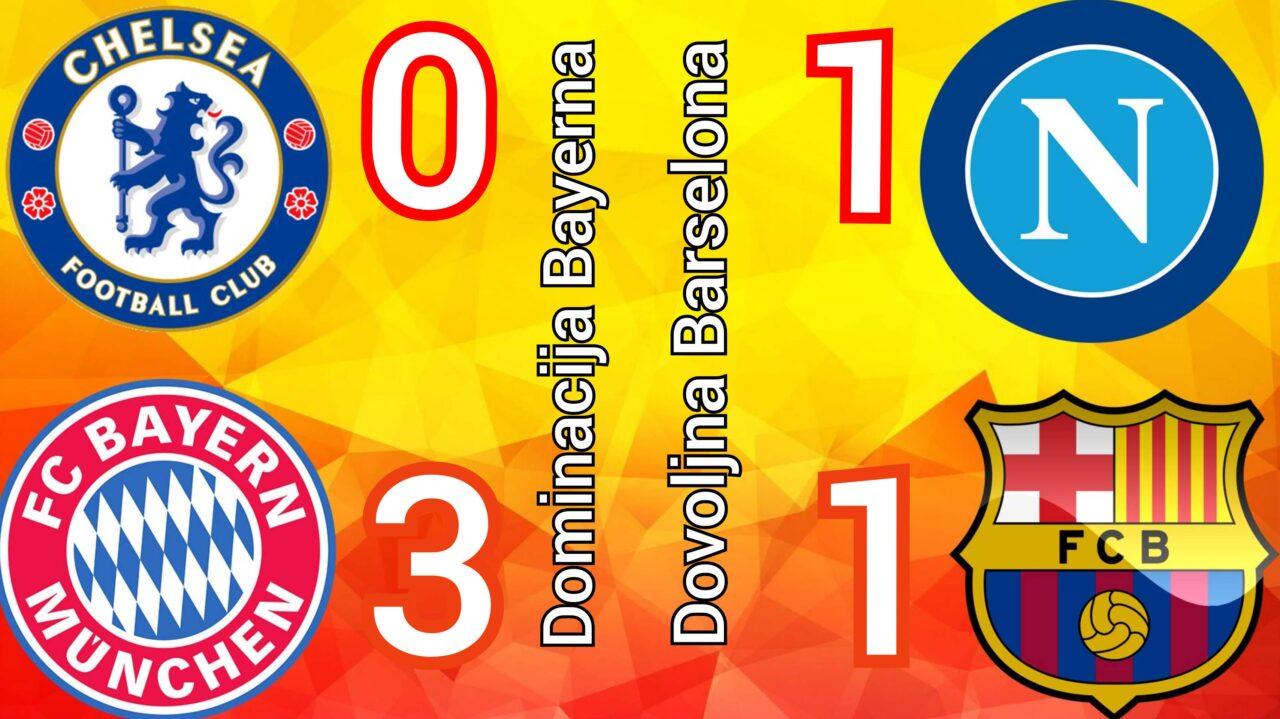 Chelsea Bayern 0 – 3 ☆ Napoli Barcelona 1 – 1