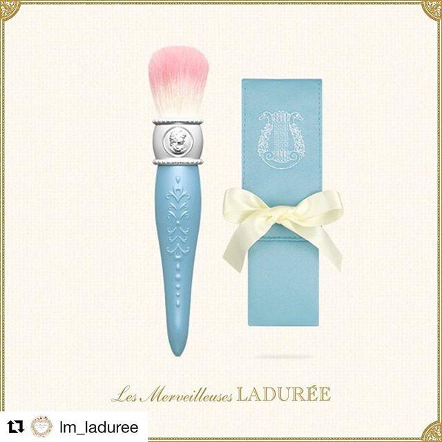 #Repost @lm_laduree (@get_repost)・・・LIMITED EDITION CHEEK BRUSH WITH CASE#lesmerveilleusesladuree #autumn #limitededition #boudoir #cheek #brush #case #blue #love #luxury #beauty #laduree #lmladuree
