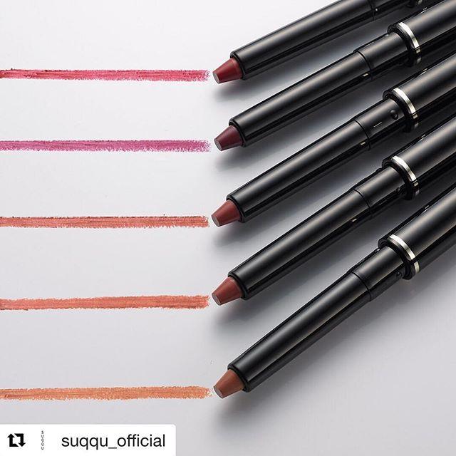 #suqqu lip defining pencil #Repost @suqqu_official (@get_repost)・・・リップ ディファイニング ペンシルはほどよくシアーな旬の発色。絶妙な太さが使いやすいリップライナーです。#suqqu #スック #2017AW #cosmetics