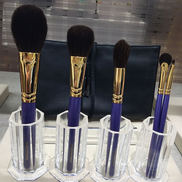 #Mitsukoshi #hakuhodo purple squirrel set