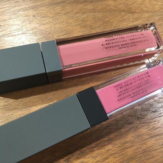 #Three lip color and blush